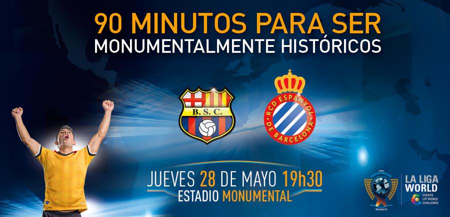Barcelona SC vs Espanyol en Vivo – Copa Euroamericana 2015