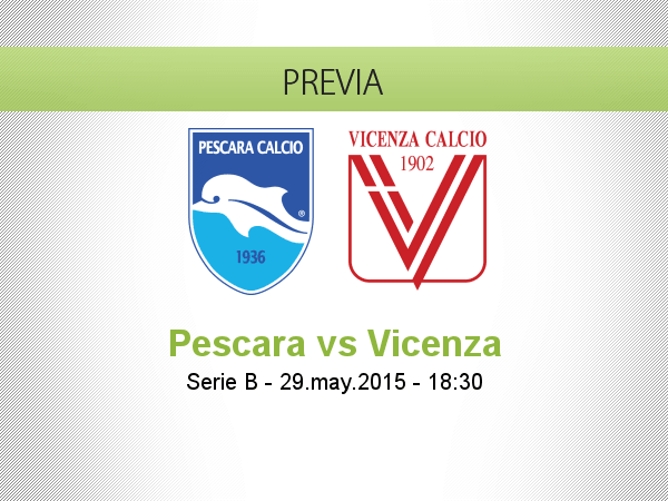 Pescara vs Vicenza en Vivo – Serie B 2015