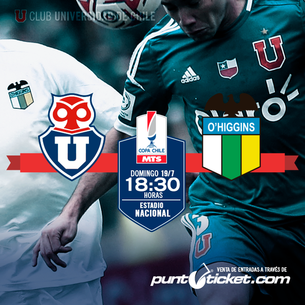 U De Chile vs O'Higgins en Vivo – Copa Chile 2015