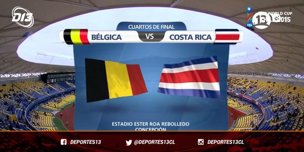 Bélgica vs Costa Rica en Vivo – Mundial Sub 17 2015