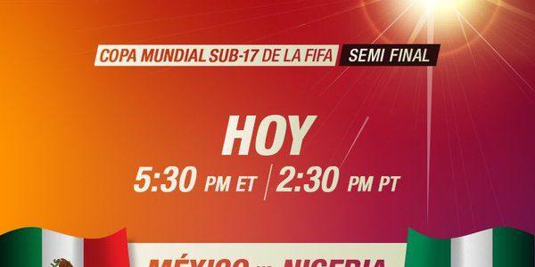 México vs Nigeria en Vivo Semifinal – Mundial Sub 17 2015