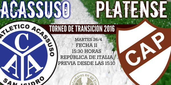 Acassuso vs Platense en Vivo Primera B Argentina 2016