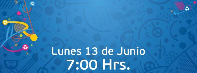 Programación fútbol hoy 13 Junio 2016