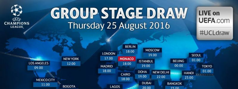 Ver Sorteo fase de grupos UEFA Champions League 2016 – 2017