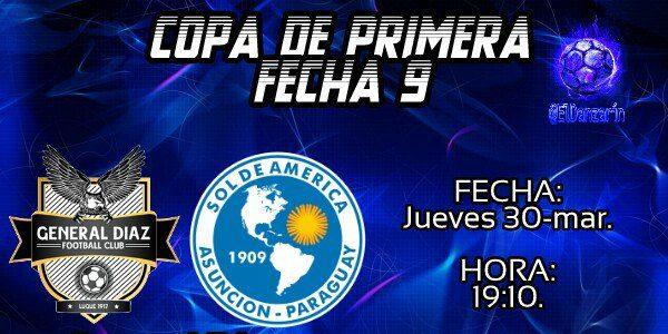 General Díaz vs Sol de América en Vivo Fútbol Paraguay 2017