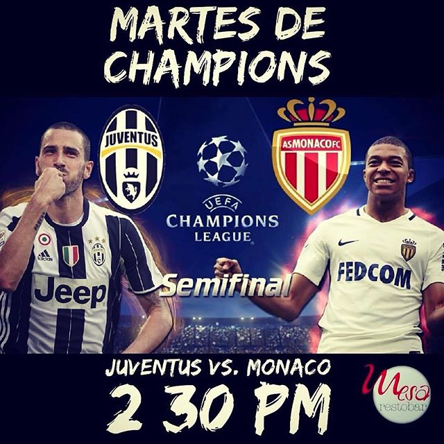 Juventus vs Monaco en Vivo Vuelta Champions League 2017