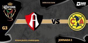 En que canal juega Atlas vs América en Vivo Copa MX 2017