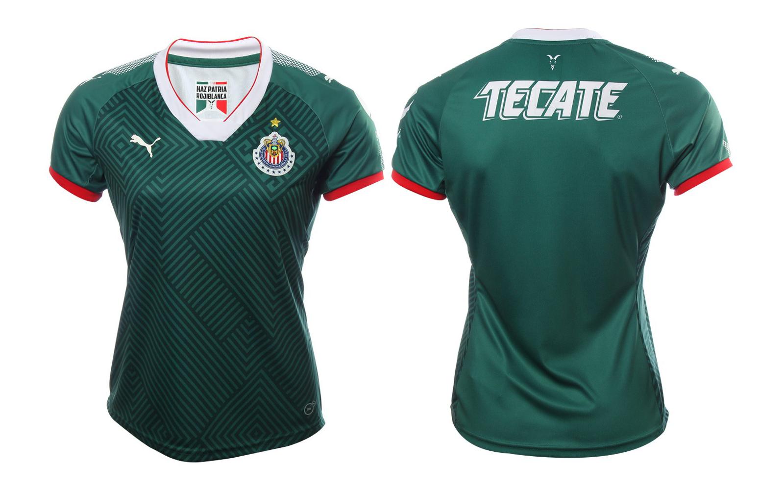 Playera Chivas 2017 Mujer Verde con Nombre y Número