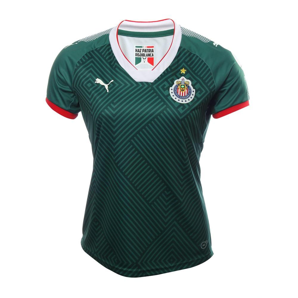 Playera Chivas 2017 Mujer Verde frontal Tercer Uniforme