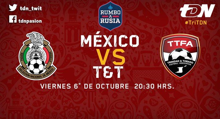 México vs Trinidad y Tobago en Vivo Hexagonal Rusia 2018 2017