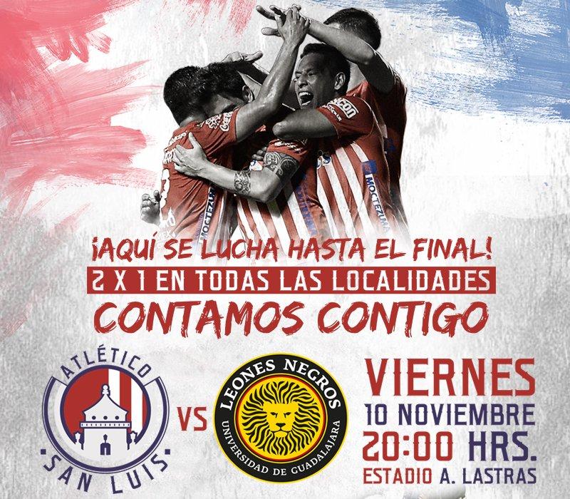 Atlético San Luis vs U de G en Vivo 2017 previo Leones Negros Celaya