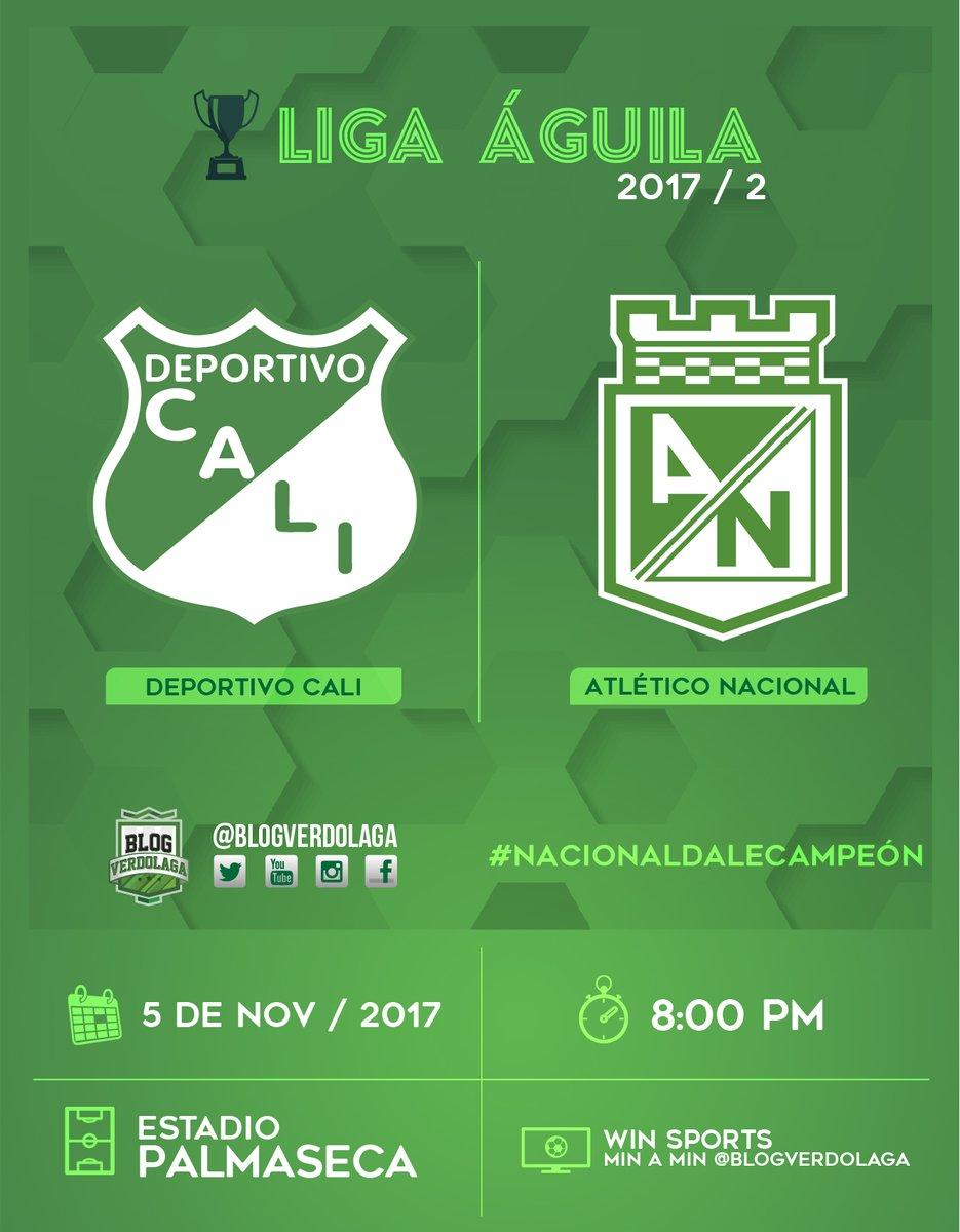 Deportivo Cali vs Atlético Nacional en Vivo Liga Águila 2017