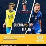 En vivo Suecia vs Italia Clasificación Rusia 2018 2017