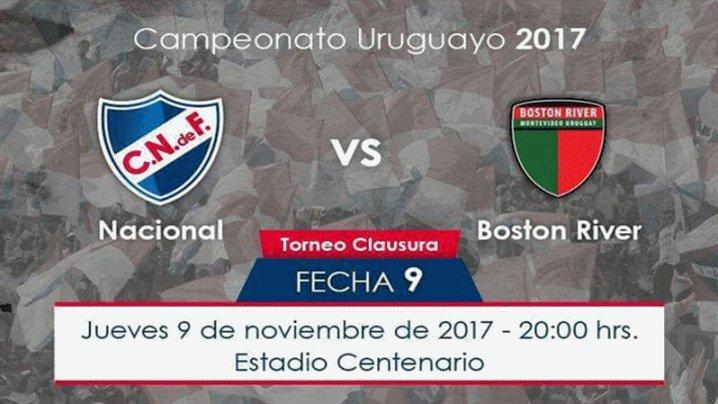 Nacional vs Boston River en Vivo 2017 Fútbol Uruguay 2017