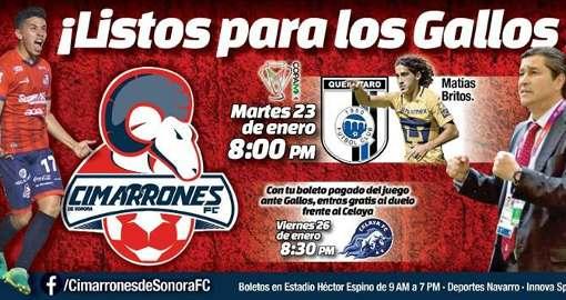Cimarrones vs Querétaro en Vivo Jornada 3 Copa MX 2018