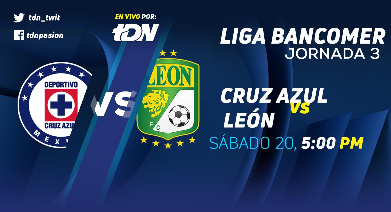 En que canal juega Cruz Azul vs León en Vivo Liga MX 2018