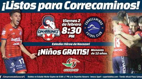 Cimarrones vs Correcaminos en Vivo Online Ascenso MX 2018