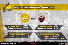 Dorados vs Atlante en Vivo TVC Deportes final Ascenso MX 2016