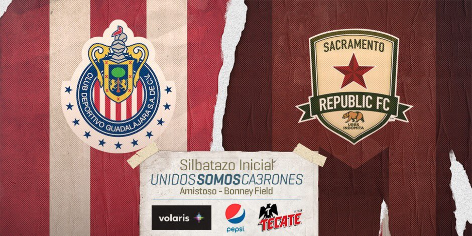 Chivas vs Sacramento Republic en Vivo Amistoso 2016