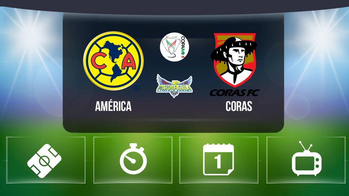 América vs Coras en Vivo Online Copa MX 2017