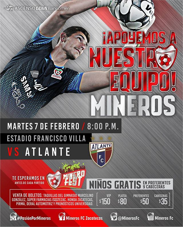 Mineros vs Atlante en Vivo por Internet Ascenso MX 2017