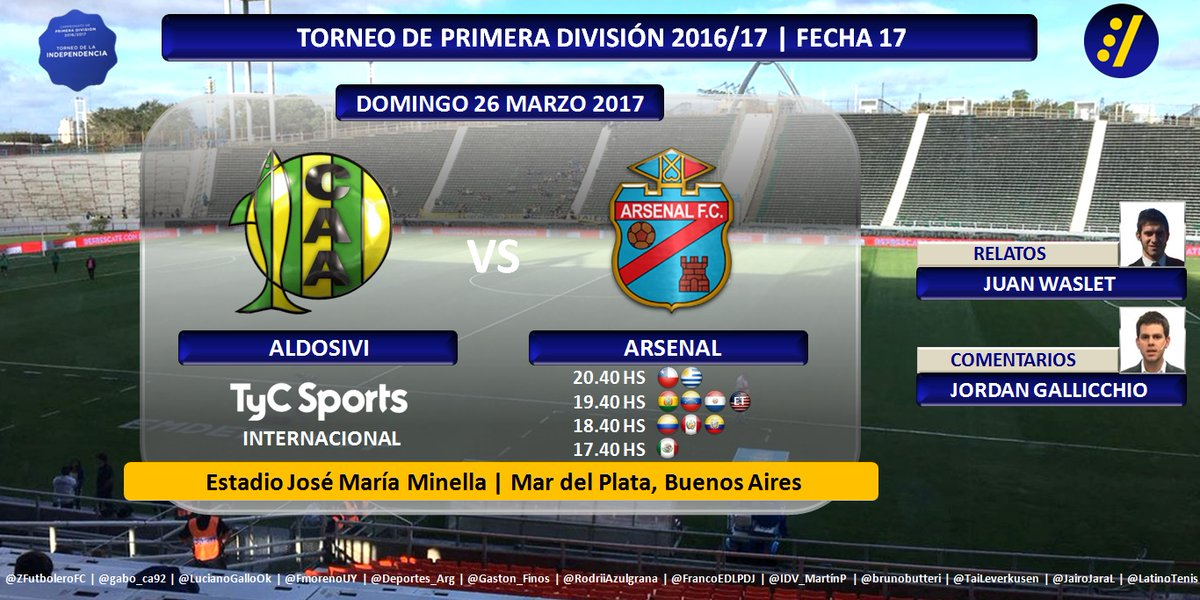 Aldosivi vs Arsenal en Vivo Online Fútbol Argentina 2017