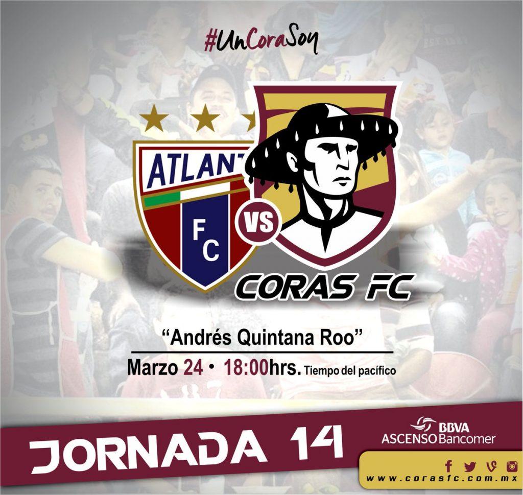 Atlante vs Coras Tepic en Vivo Ascenso MX 2017