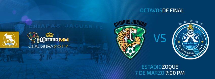 Chiapas vs Puebla en Vivo Copa MX 2017