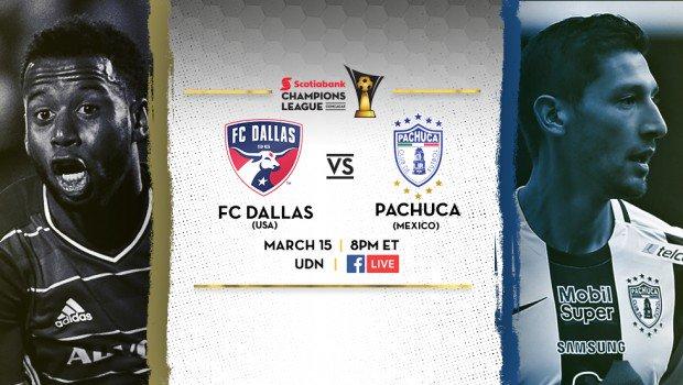 Dallas vs Pachuca en Vivo CONCACAF Liga de Campeones 2017