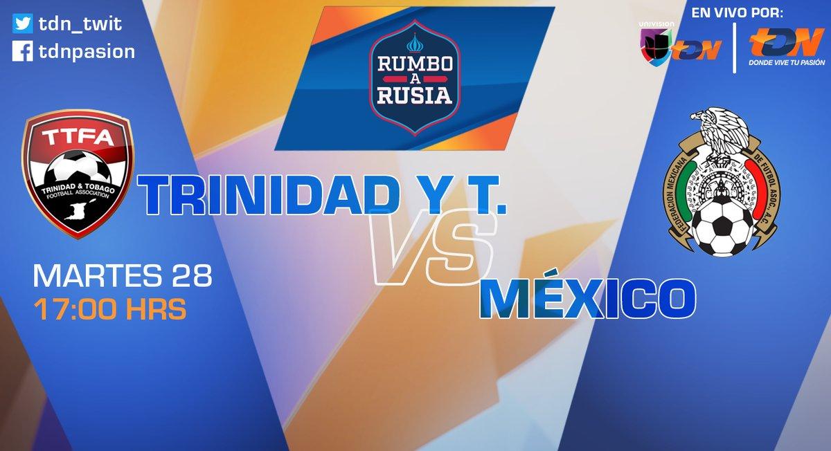 Trinidad y Tobago vs México en Vivo Clasificación Concacaf 2017