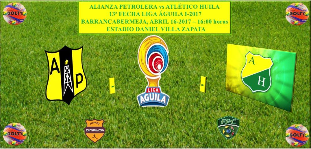 Alianza Petrolera vs Atlético Huila en Vivo Liga Águila 2017