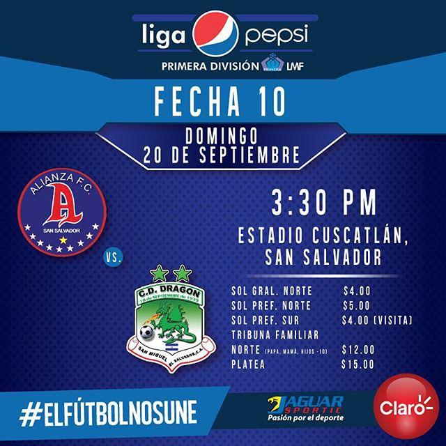 Alianza vs Dragón en Vivo Online Fútbol El Salvador 2017