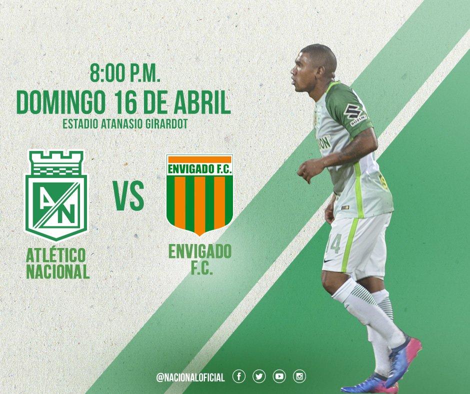 Atlético Nacional vs Envigado en Vivo Liga Águila 2017