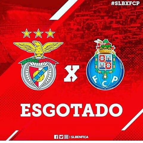 Benfica vs Porto en Vivo Primeira Liga 2017