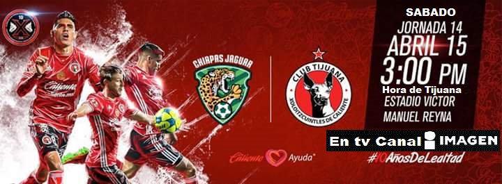 Chiapas vs Tijuana en Vivo Online Liga MX 2017