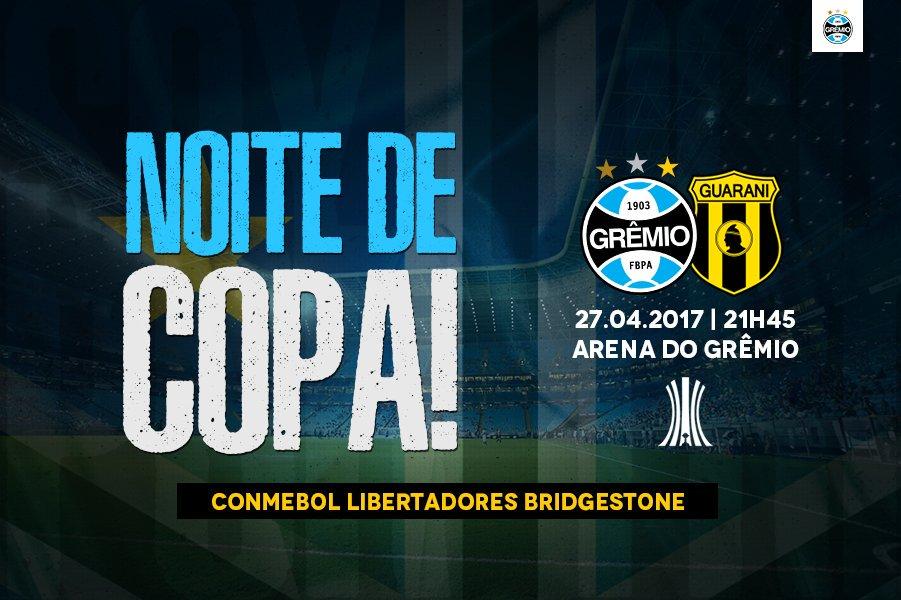 Grêmio vs Guaraní en Vivo Copa Libertadores 2017