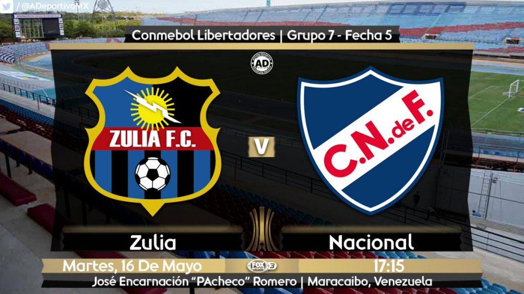 Zulia vs Nacional en Vivo Online Copa Libertadores 2017