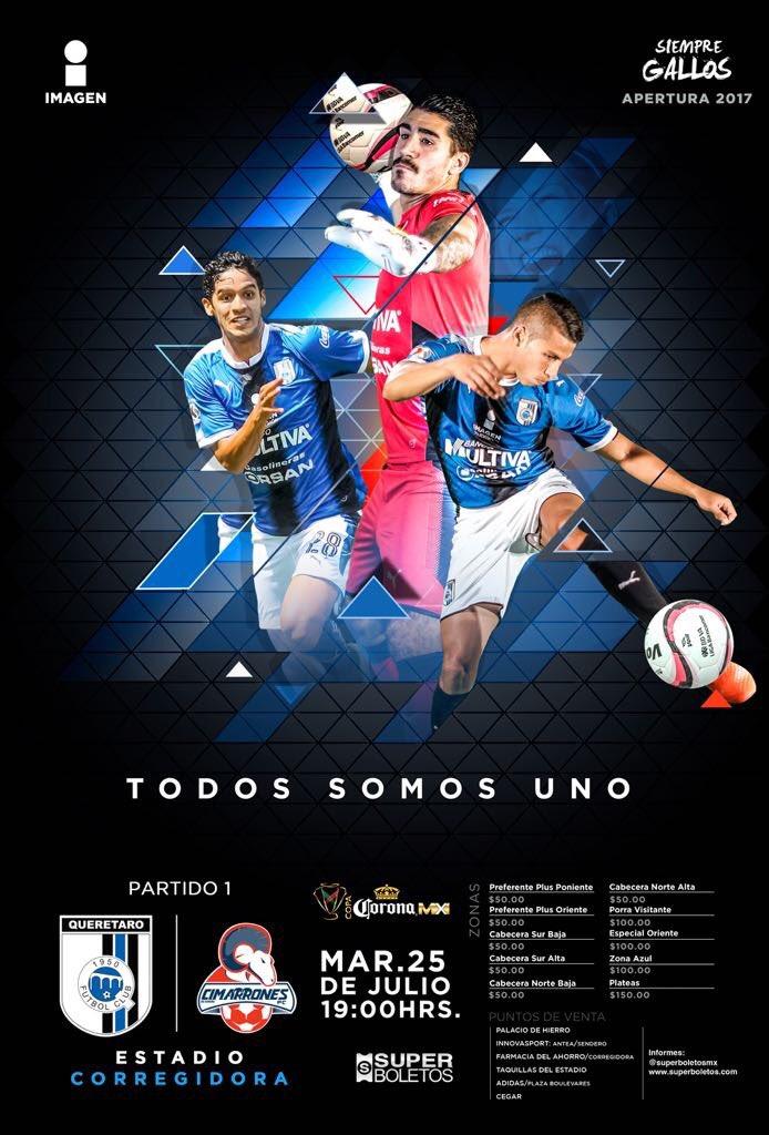Querétaro vs Cimarrones en Vivo TV Copa MX 2017