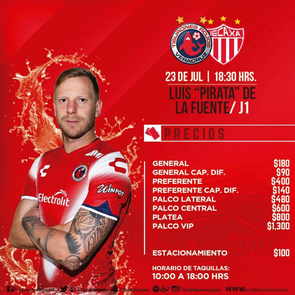 SKY Veracruz vs Necaxa en Vivo Liga MX 2017
