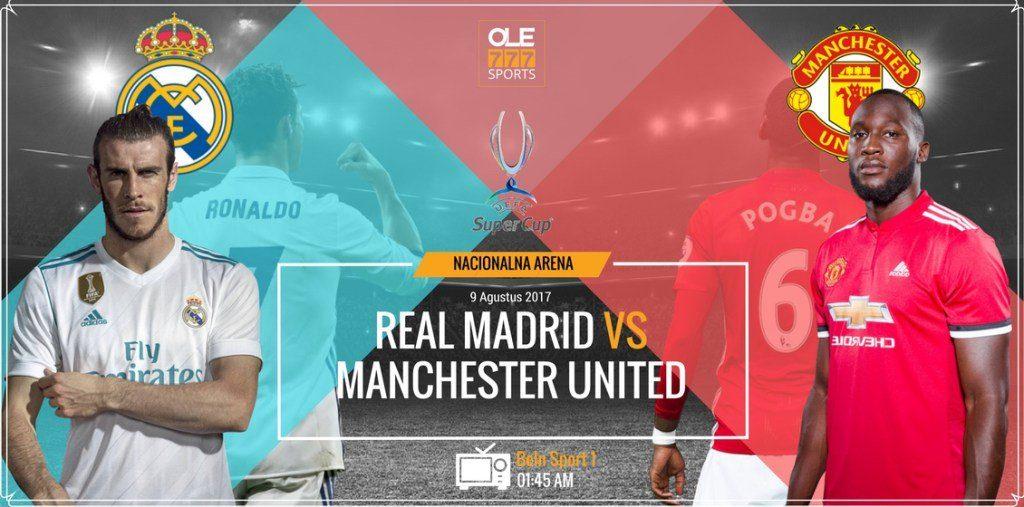 A que hora juega el Real Madrid vs Man United en Vivo Supercopa UEFA 2017