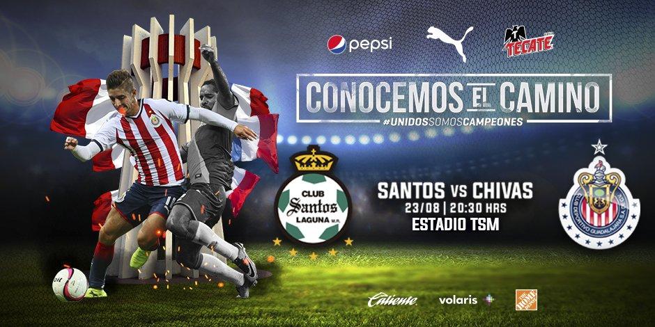 En que canal juega Santos vs Chivas en Vivo Liga MX 2017