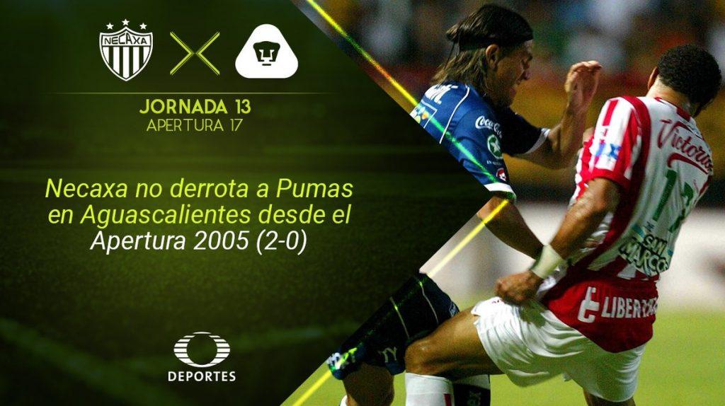 Resultado Necaxa vs Pumas en Vivo Liga MX 2017
