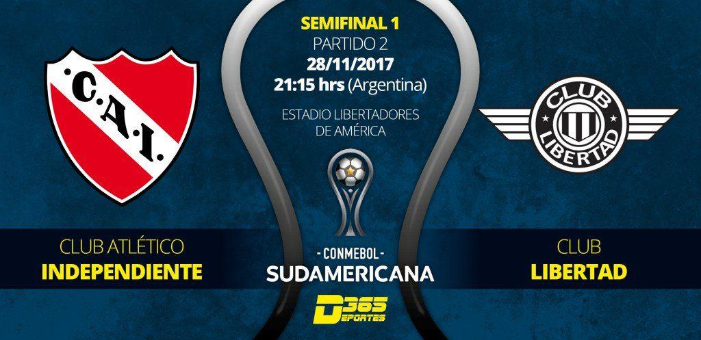 a que hora juega Independiente vs Libertad en Vivo Copa Sudamericana 2017