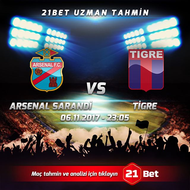 Arsenal Sarandí vs Tigre en Vivo TYC Sports Superliga Argentina 2017