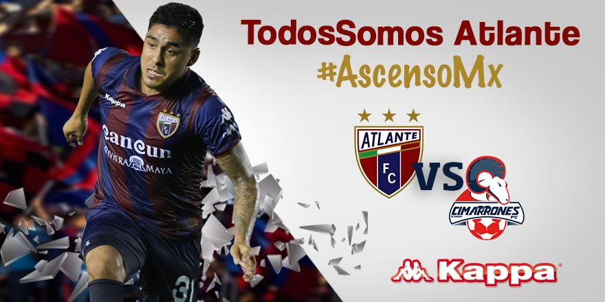 Atlante vs Cimarrones en Vivo Ascenso MX 2017