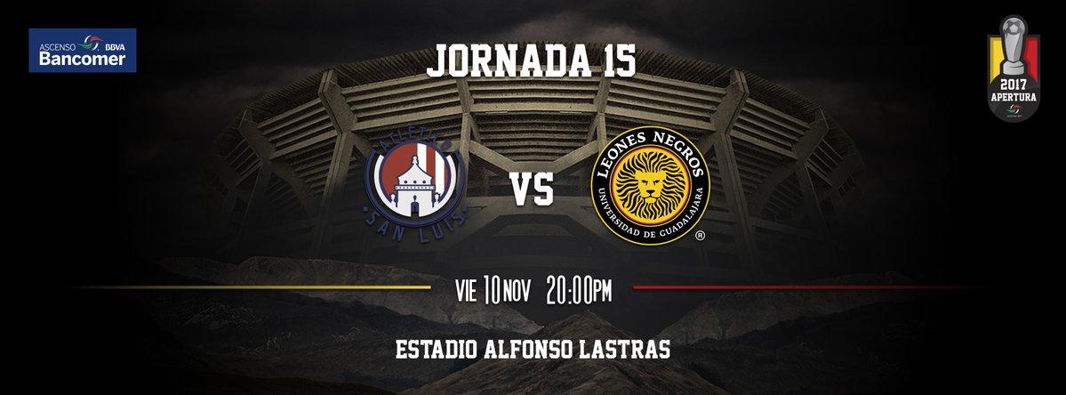 Atlético San Luis vs U de G en Vivo 2017 Ascenso MX 2017