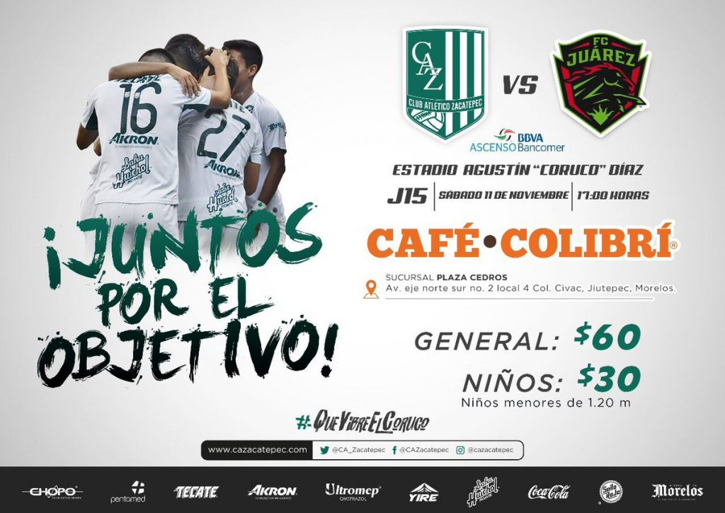 Atlético Zacatepec vs Bravos en Vivo Ascenso MX 2017