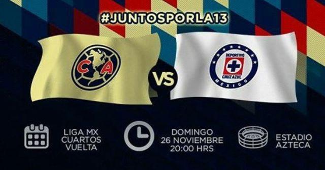 Partido de vuelta América vs Cruz Azul en Vivo 2017 Liga MX 2017