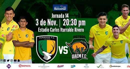 Venados vs Potros UAEM en Vivo TVC Deportes Ascenso MX 2017