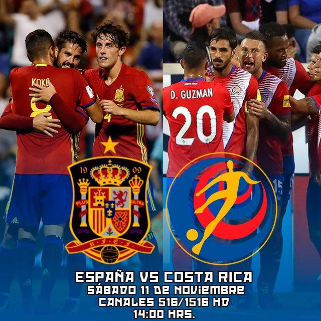 Ver España vs Costa Rica en Vivo Amistoso 2017